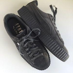 Puma FENTY Creeper Lace Up Sneaker Grey Size 7